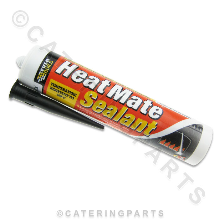 High Heat Caulking : Black high temperature heat resistant silicone sealant