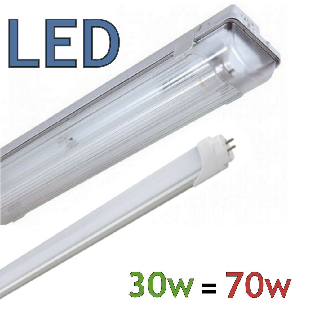 6FT Fluorescent IP65 Non Corrosive Light Coverted To Low