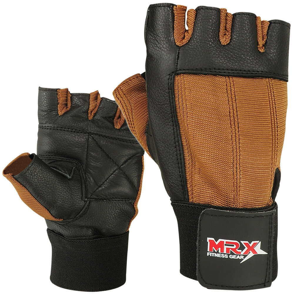 Weight Lifting Gloves Leather Fitness Gym Training Workout: Weight Lifting Gloves Leather Exercise Gym Training