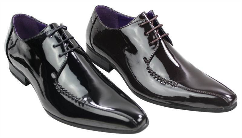 What is Patent Leather? Patent leather in basic terms is a coated leather that has a glossy, shiny finish to it and is mostly used for shoes and other accessories (because a patent leather jacket would look horrible). The origin of patent leather is historically attributed to the UK according to a reference in a British periodical from