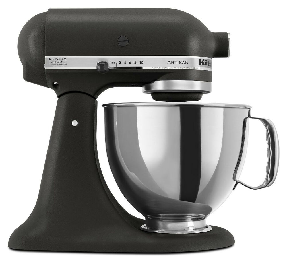 kitchenaid stand mixer tilt 5 quart rrk150bk artisan 10 sp imperial black 50946877020 ebay. Black Bedroom Furniture Sets. Home Design Ideas