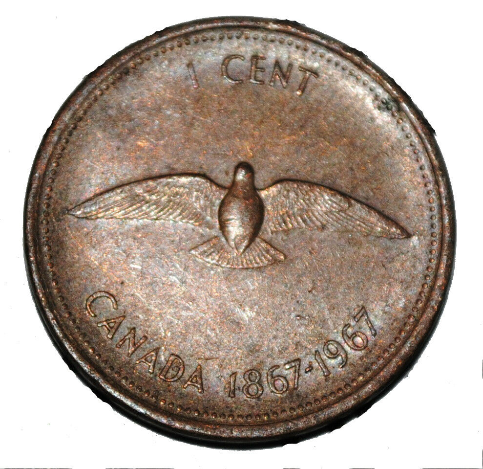 Canada 1967 Centennial 1 Cent Copper One Canadian Penny Dove Coin Ebay