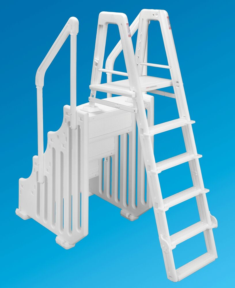 Ocean Blue 38 Mighty Step Ladder Set Aboveground Swimming Pool Entry System Ebay