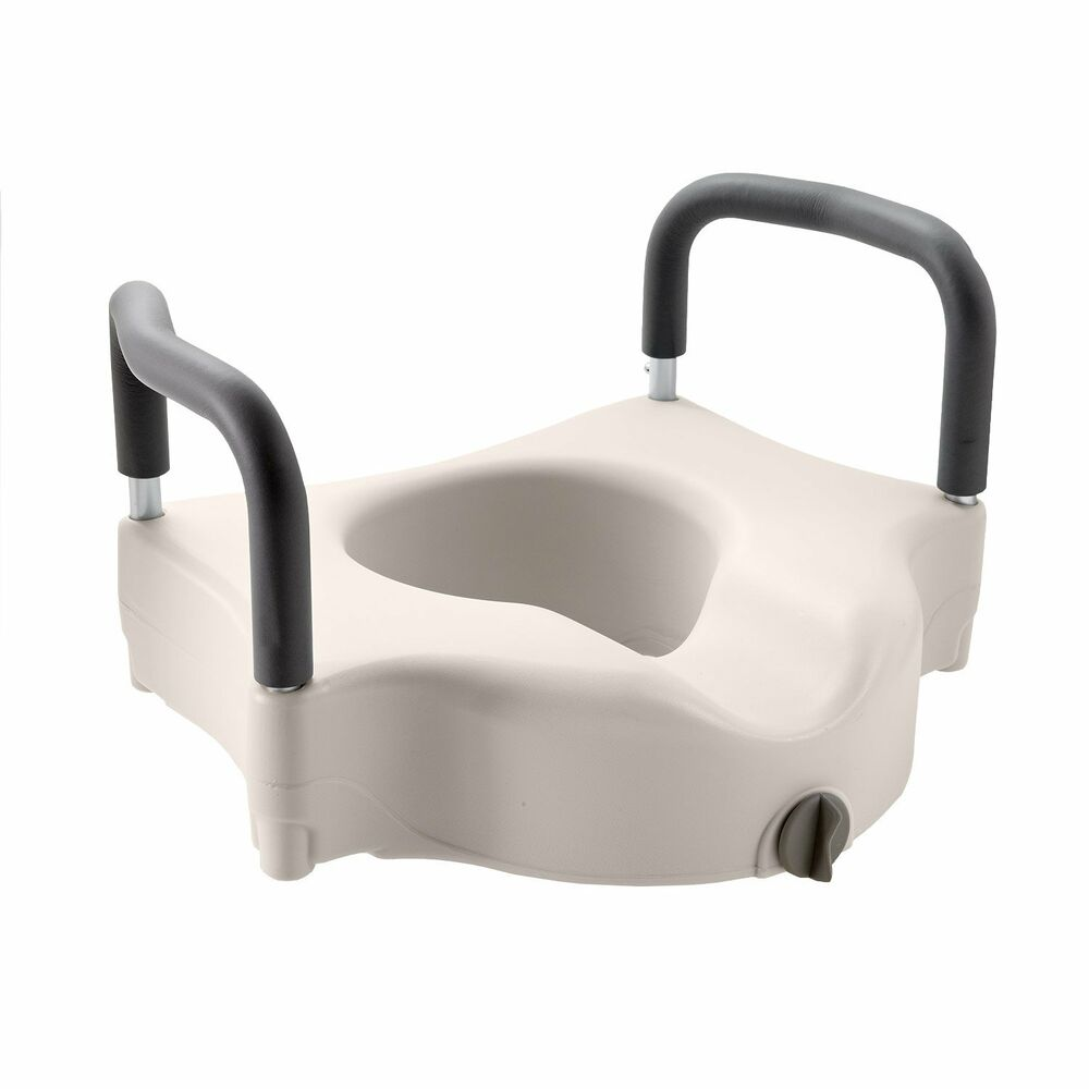 Medline Locking Elevated Toilet Seat With Arms Ebay