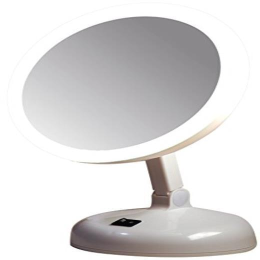 Vanity Lighted Makeup Mirror 10x : Floxite 7