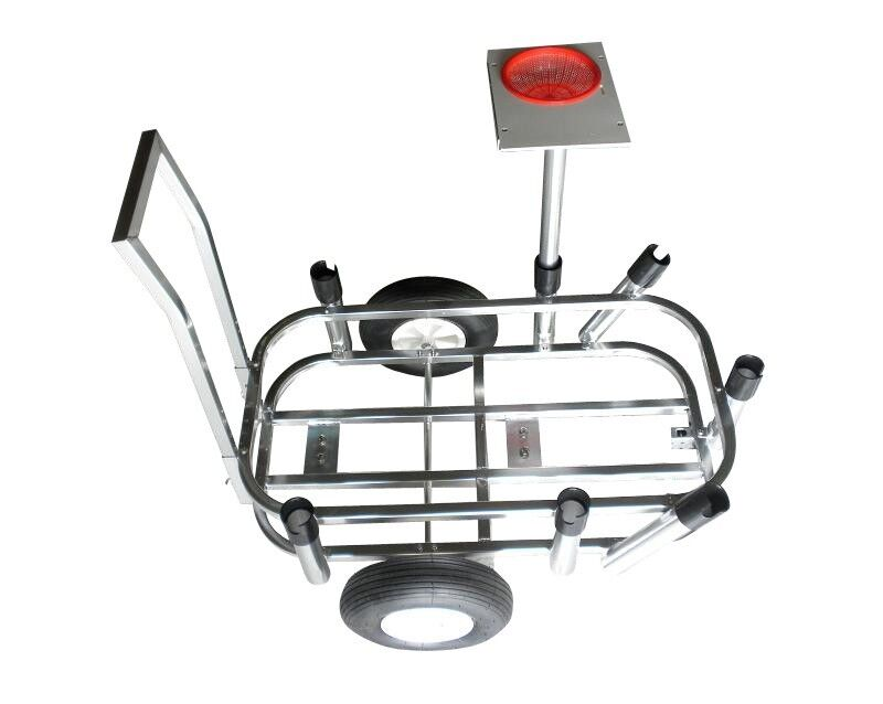 New mullet marine pier fishing cart with 6 rod holders and for Pier fishing rod holder
