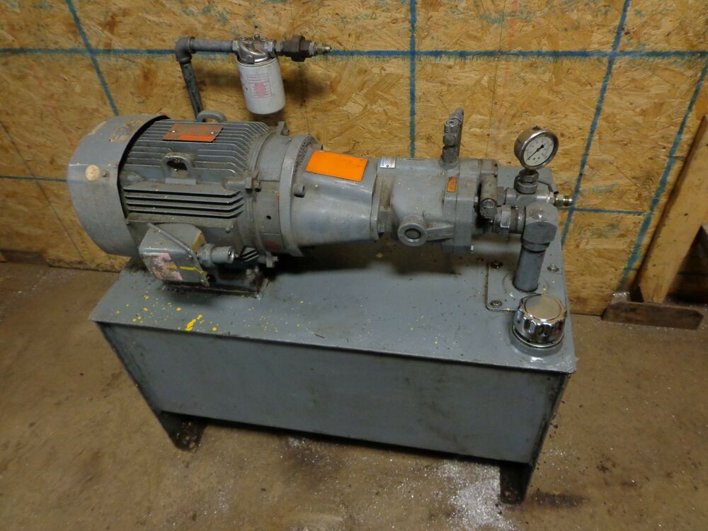 hydraulic pump reservoir with 7 5 hp ge general electric