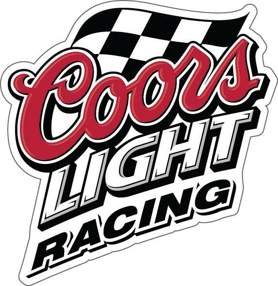 Coors Light Racing Sticker Decal Different Sizes Beer