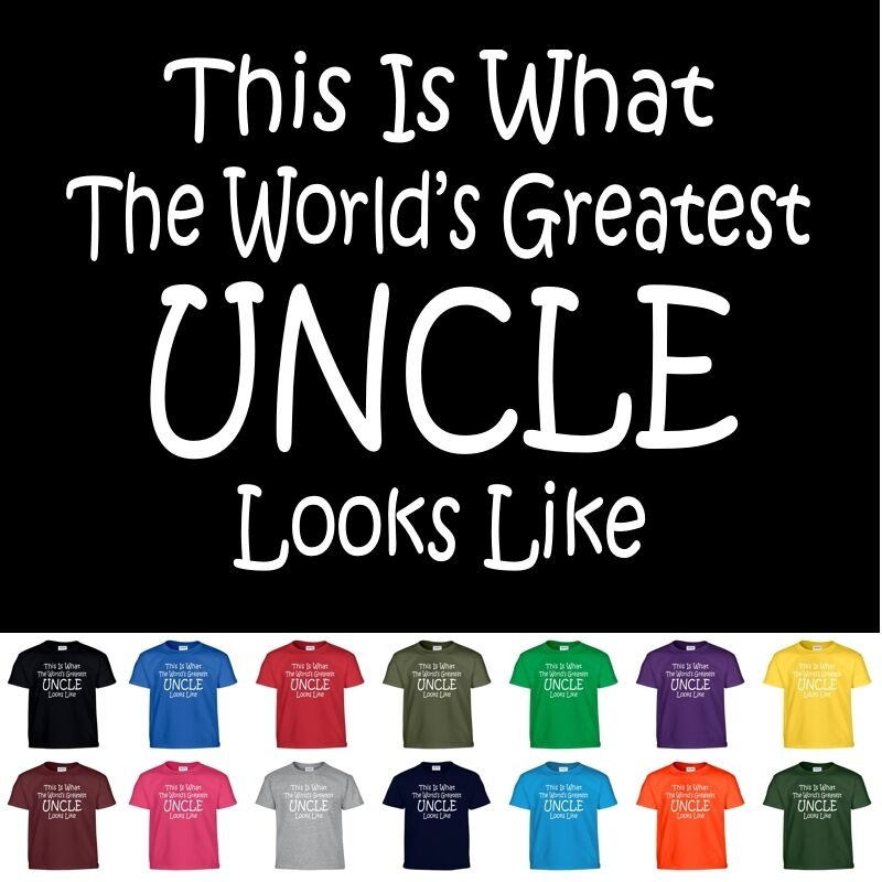 d34ed142ce Details about Worlds Greatest UNCLE Fathers Day Birthday Funny Christmas  Gift Tee T Shirt