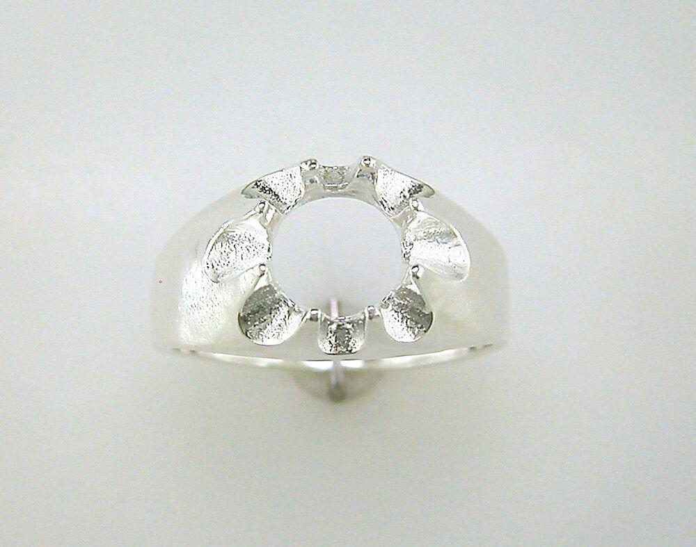 mens solitaire ring setting sterling silver ebay