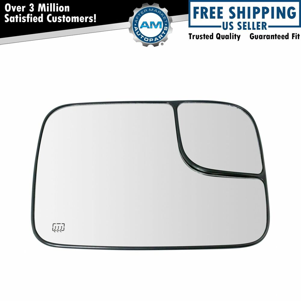 Power heated convex side mirror glass passenger right rh for Mirror glass