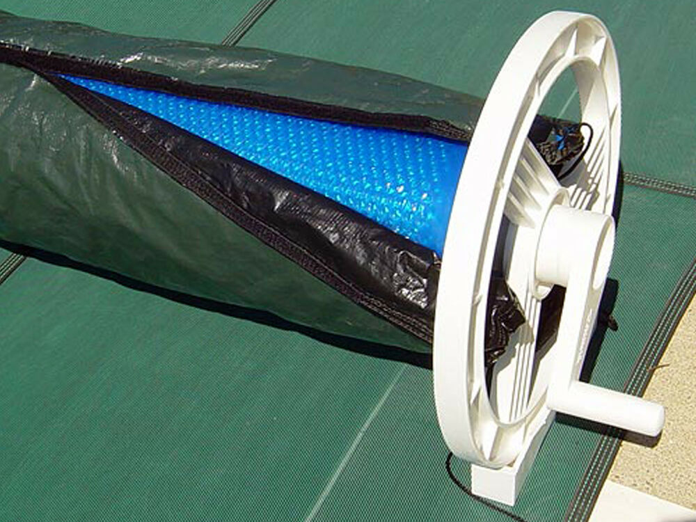 Solar Blanket Winter Cover For Swimming Pool Solar Roller Reel Up To 24 39 Wide Ebay