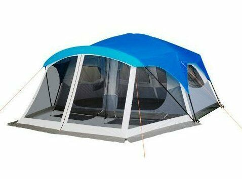 Details about NEW Embark 9 Person TWO ROOM Cabin Family C&ing TENT with Screen Porch  sc 1 st  eBay & NEW Embark 9 Person TWO ROOM Cabin Family Camping TENT with Screen ...