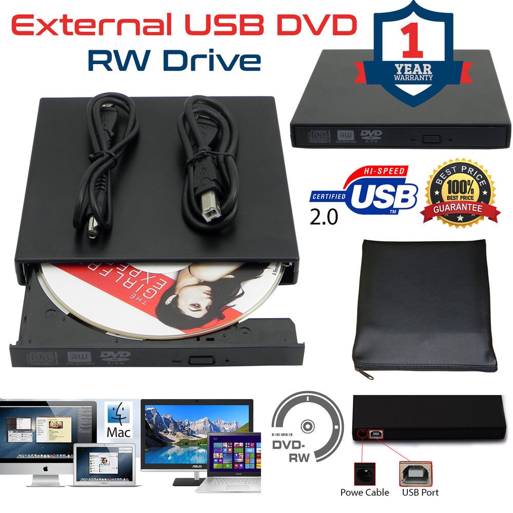 external usb dvd rw dual layer player writer burner drive. Black Bedroom Furniture Sets. Home Design Ideas