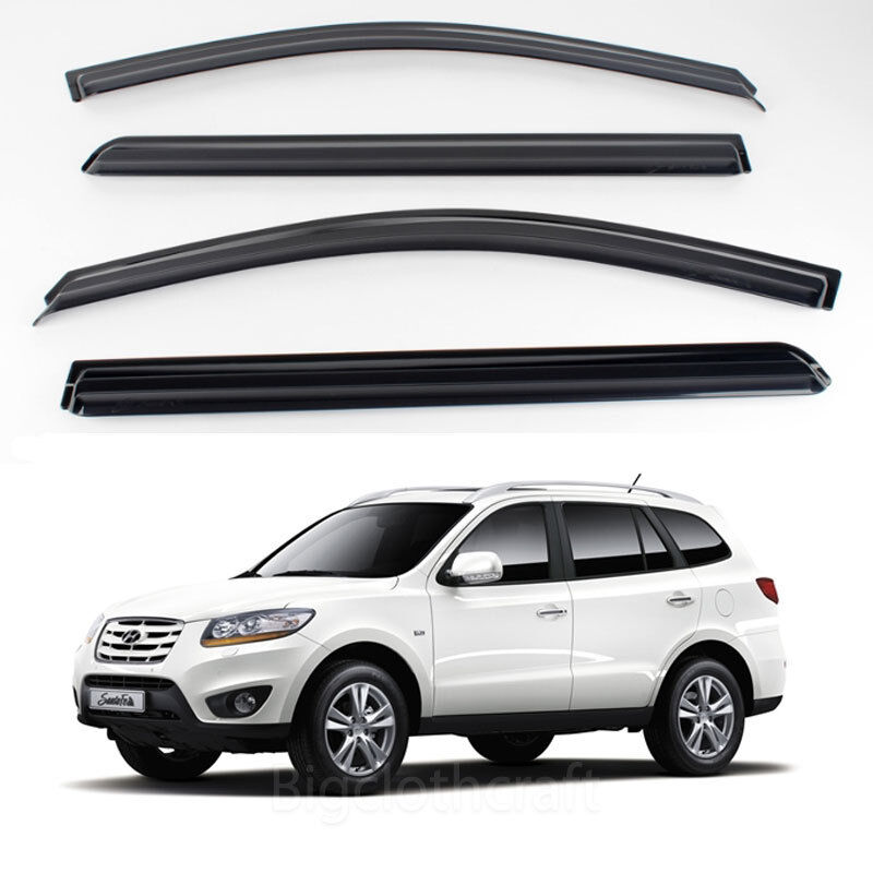 2011 Hyundai Santa Fe Exterior: New Smoke Window Vent Visors Rain Guards For Hyundai Santa