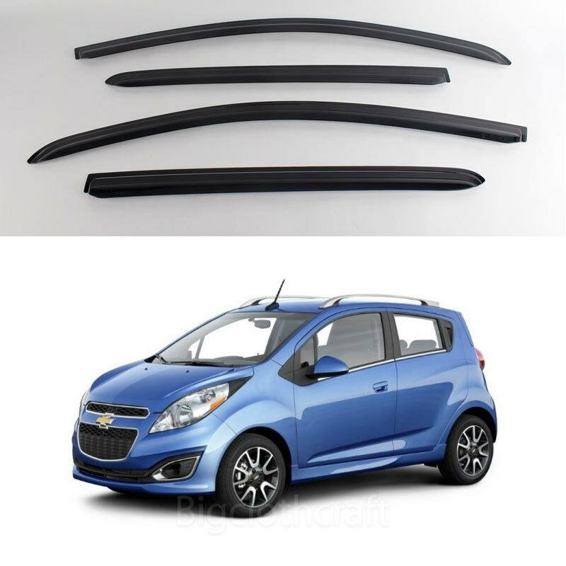 New Smoke Window Vent Visors Rain Guards For Chevrolet