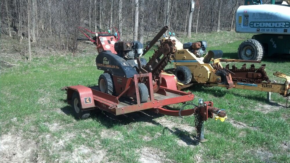 ditch witch trencher ditch witch 1230 walk behind trencher w trailer