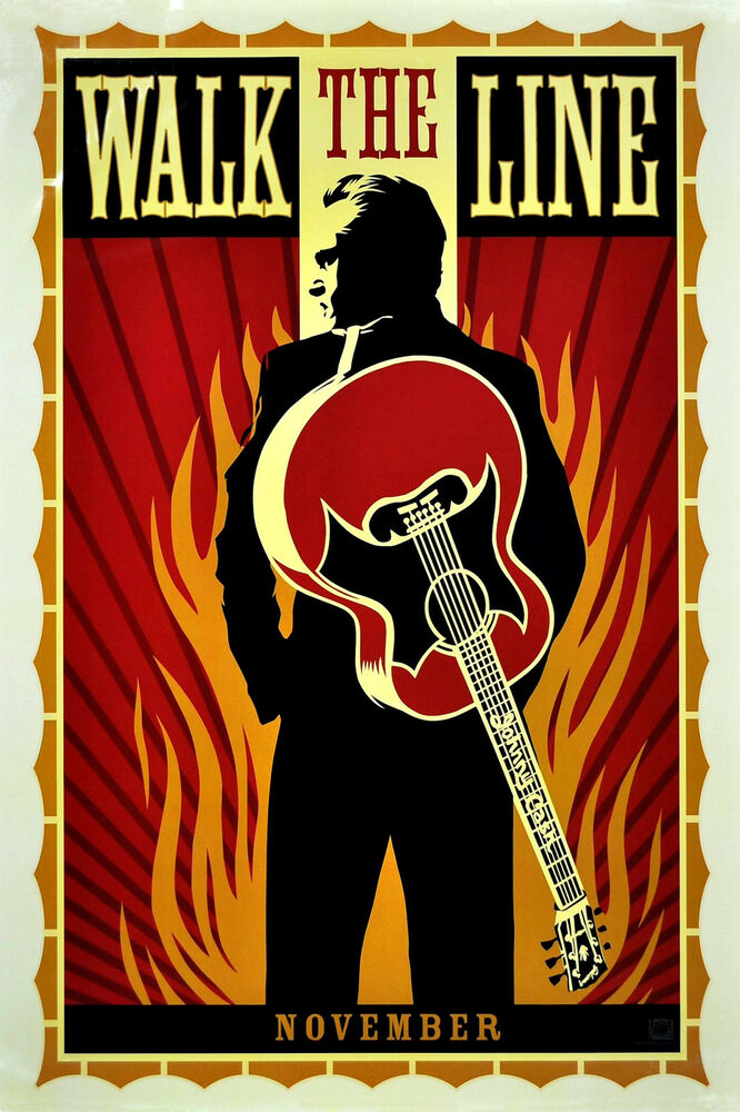 walk the line johnny cash classic movie poster a1 a2 a3 a4sizes ebay. Black Bedroom Furniture Sets. Home Design Ideas