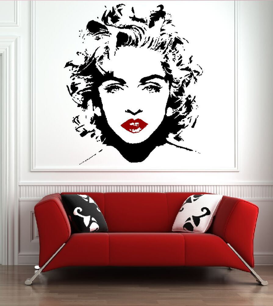 Madonna banksy music celebrity wall mural sticker for Celebrity mural