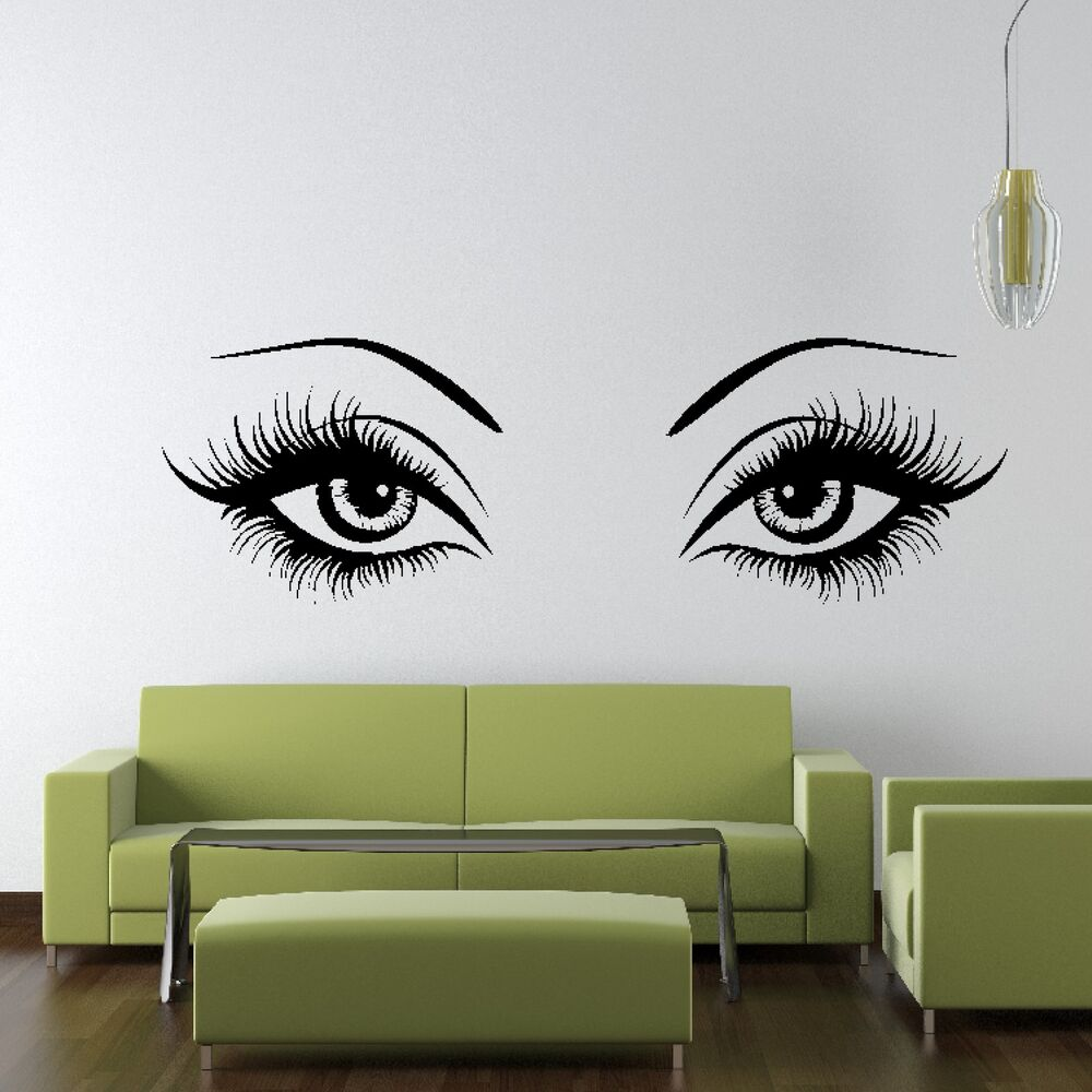 Wall Art Stickers Eyes : Sexy eyes wall sticker art design vinyl transfer graphic