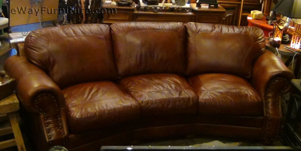 100 Top Grain Leather Cowboy Theater Sofa Made In The Usa