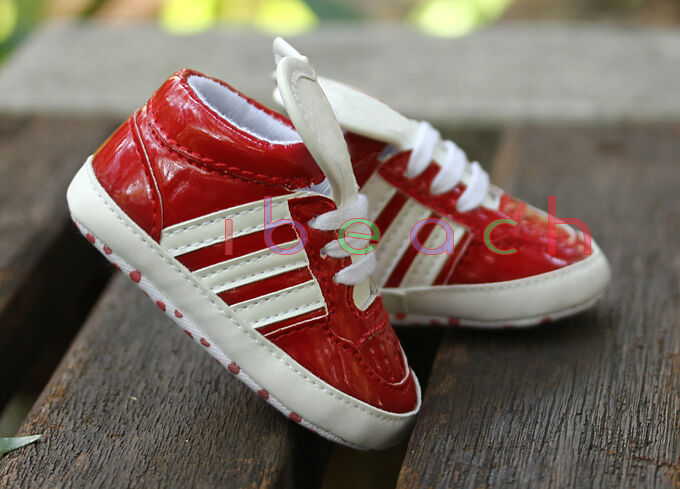 Infant Baby Gril Boy Red Soft Sole Sport Shoes Sneaker ...