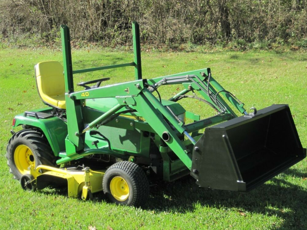 Lawn Tractor With Rear Pto : John deere diesel garden tractor with model loader