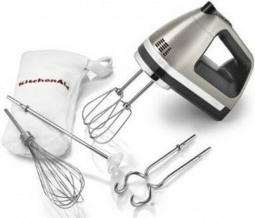 Kitchenaid digital hand mixer 9 speed khm926cu dough hooks for Kitchenaid hand mixer