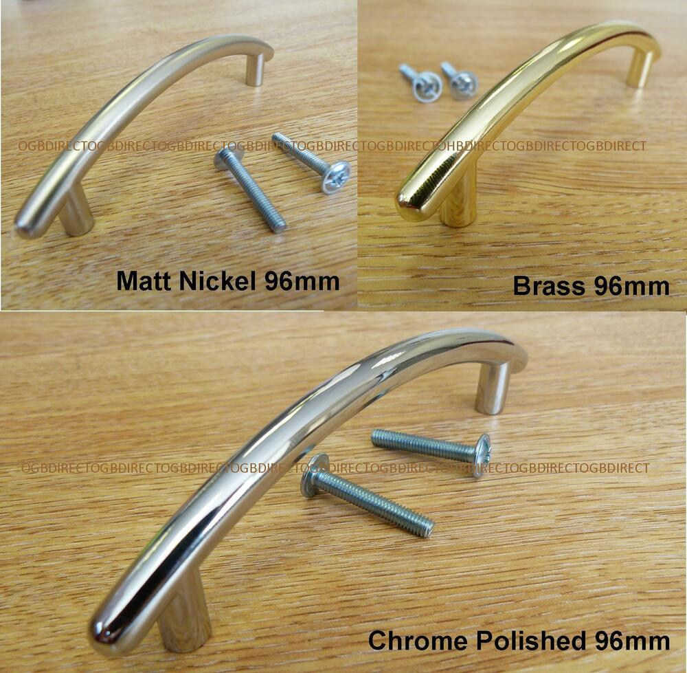 kitchen cabinet door handle curved chrome brass nickel door drawer kitchen cabinet 18535