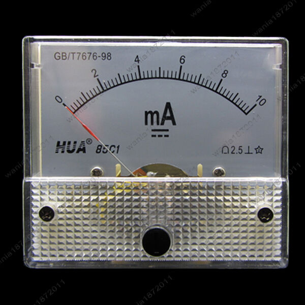 Analog Ammeter Animation : Dc ma analog ammeter panel pointer amp current meter