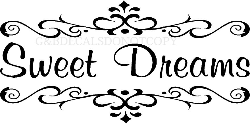 SWEET DREAMS BEDROOM VINYL DECAL WALL LETTERS WORD HOME ...