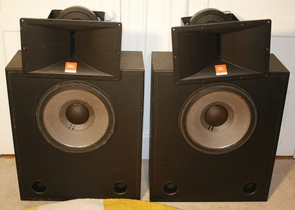 jbl pro speakers two 3678 screen channel two 2446h drivers incredible sound ebay. Black Bedroom Furniture Sets. Home Design Ideas