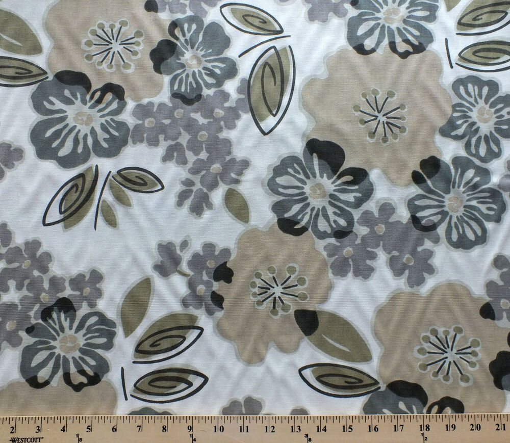 fabric magnolia decor decorator grey yard sydney weight smoke fabrics
