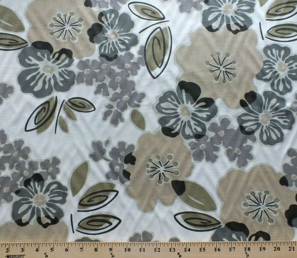 smoke grey home decor decorator weight fabric print by the yard ebay