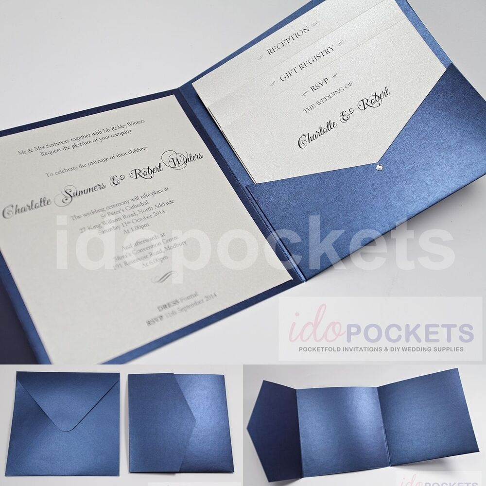 royal dark blue square wedding invitation envelopes diy pocket 150mm 6 x 6 ebay. Black Bedroom Furniture Sets. Home Design Ideas