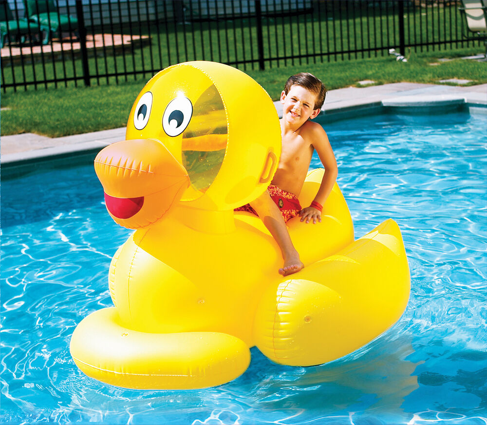 Swimline 9062 Inflatable Toddlers Children Giant Duck Swimming Pool Float Ebay