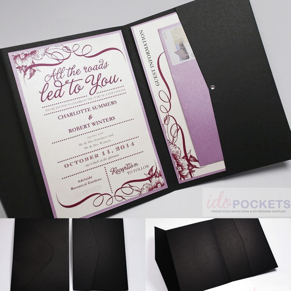 6x9 Wedding Invitation Envelopes: MATTE BLACK RECTANGLE WEDDING INVITATION DIY ENVELOPES