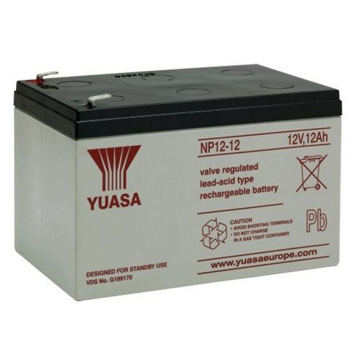 np12 12 yuasa 12v 12ah rechargeable lead acid battery ebay. Black Bedroom Furniture Sets. Home Design Ideas