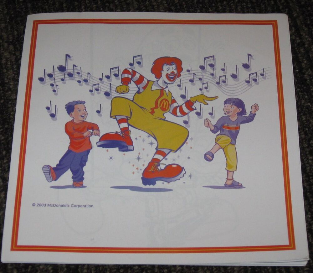 2003 Ronald McDonald Coloring Book