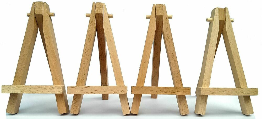 Details About Mini Wooden 5 Artist Easel For Artwork Display Table Settings Set Craft Art
