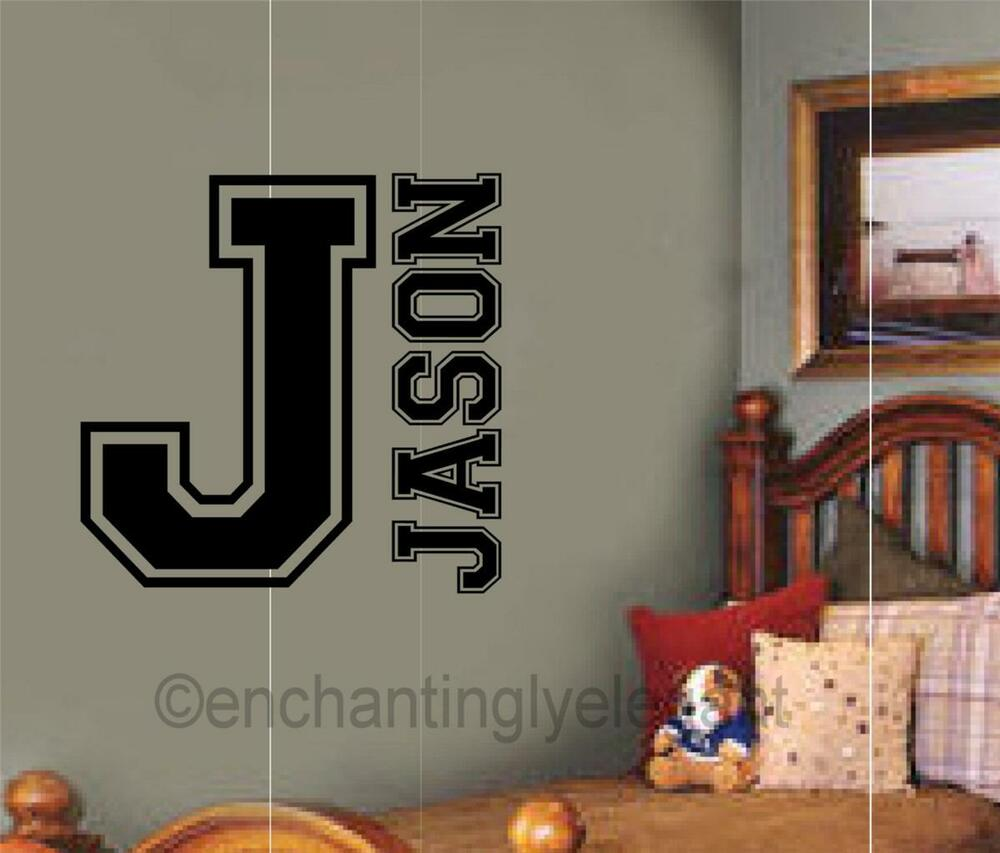 custom name personalized sport monogram varsity letter. Black Bedroom Furniture Sets. Home Design Ideas