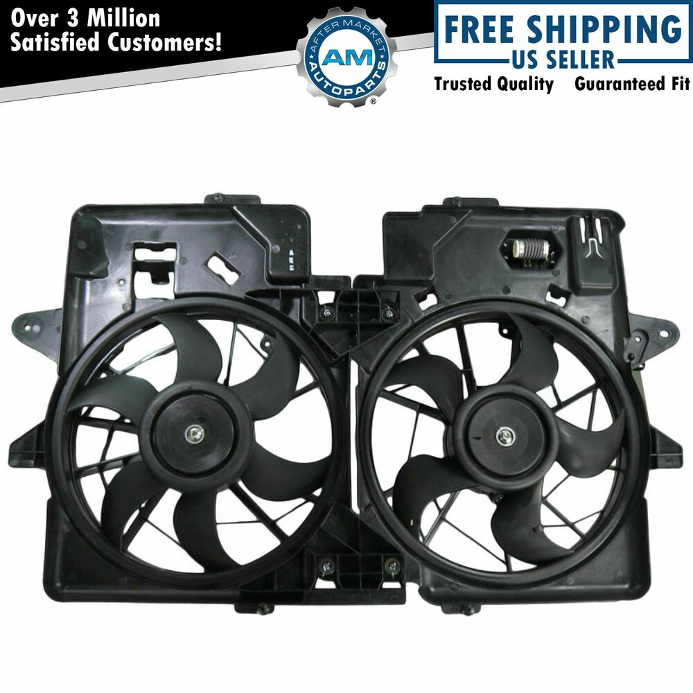 Radiator Cooling Fans : Radiator dual cooling fan assembly for ford escape