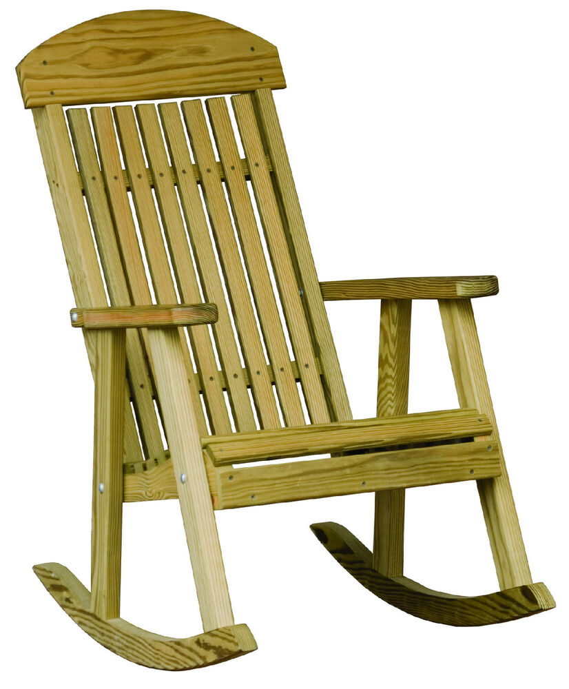 Outdoor treated yellow pine porch rocker rocking chair for Porch furniture