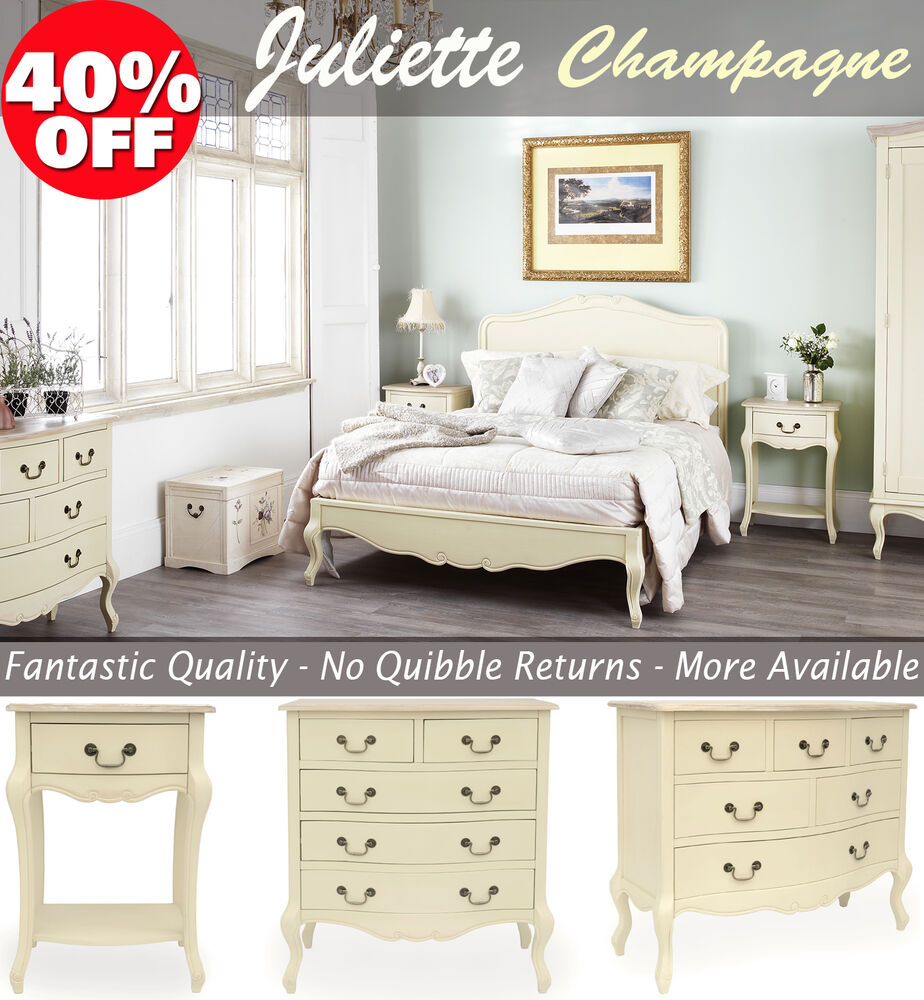 Shabby Chic Furniture Bedside Table Chest Of Drawers Wardrobe Dressing Ta