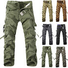Men casual military pockets cargo camo combat pants trousers size 30-38