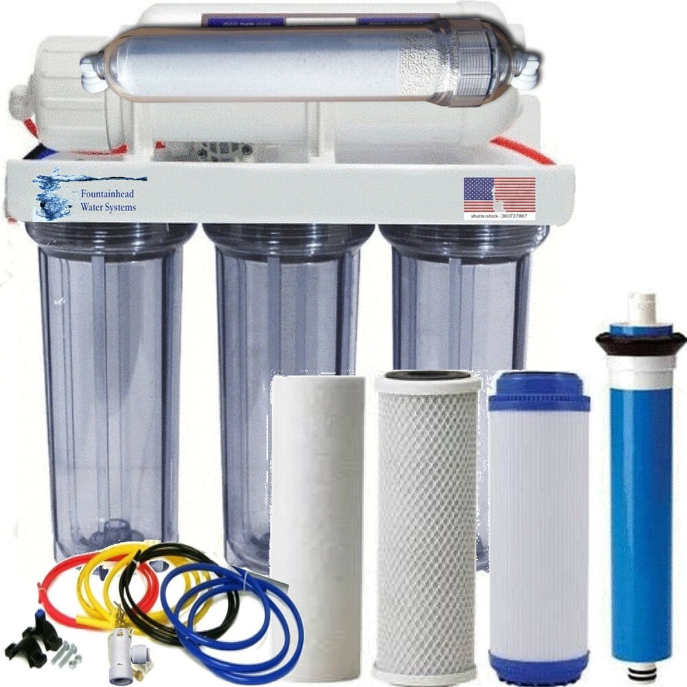 Alkaline Remineralizer Reverse Osmosis Water Filter Clear