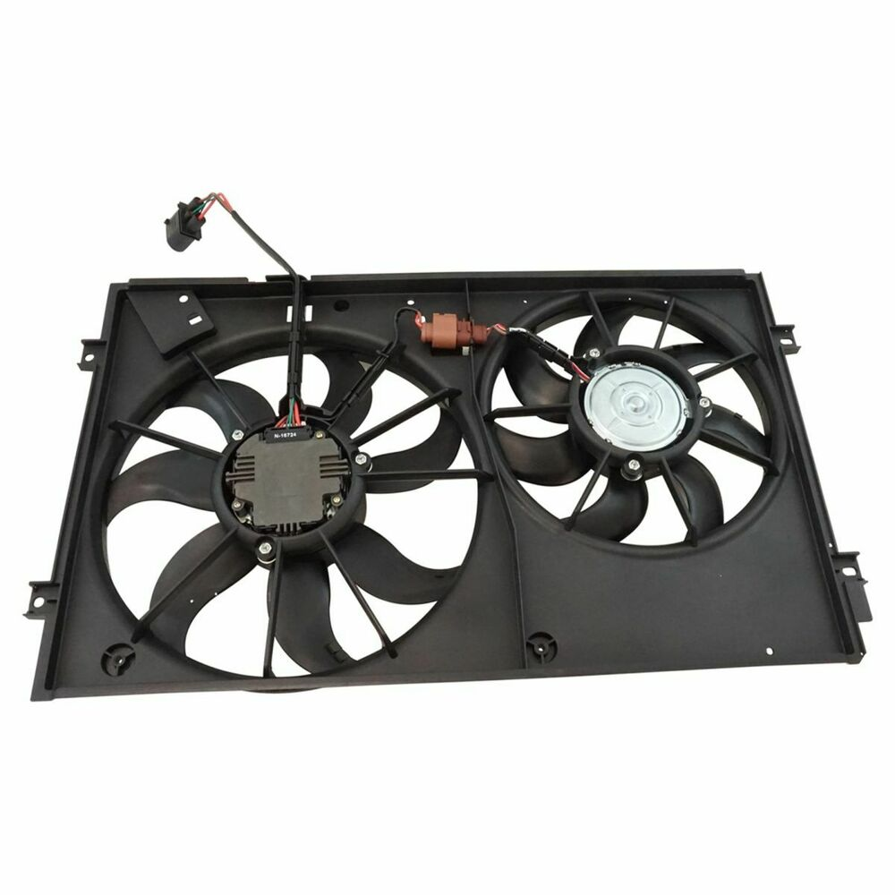 Radiator Cooling Fans : Temic style radiator cooling dual fan assembly for