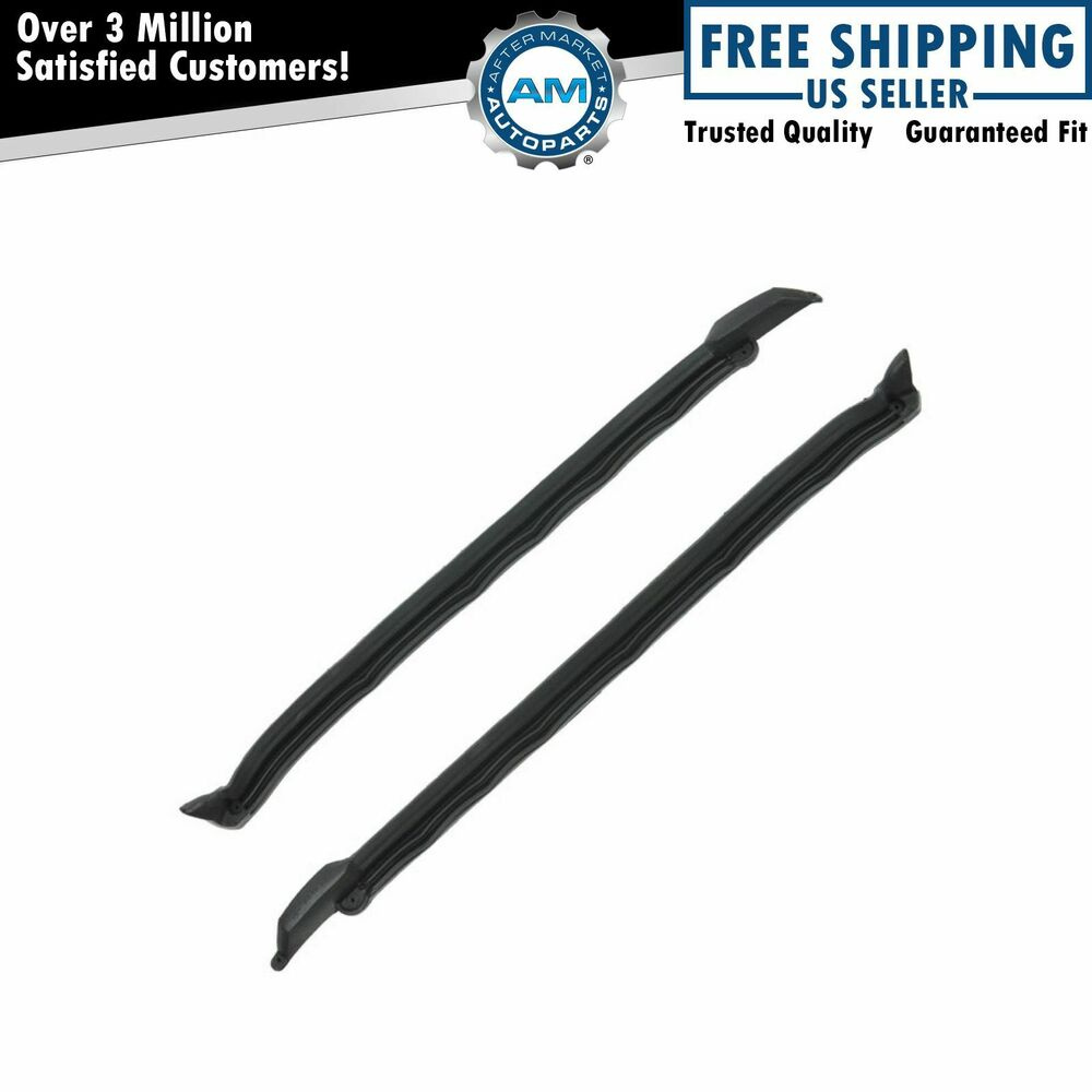 Windshield Pillar Post Seal Weatherstrip Pair For 66 67