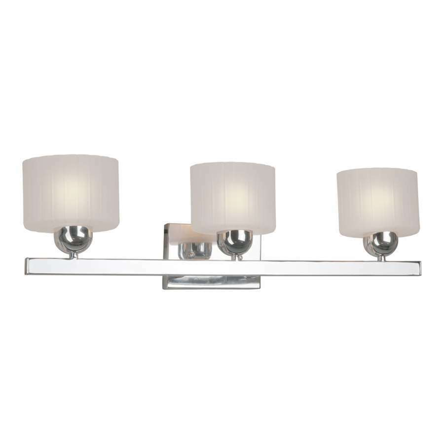 Three Light Bathroom Vanity Light: Forte Lighting 3 Light Bathroom Vanity Light In Chrome - 1183451