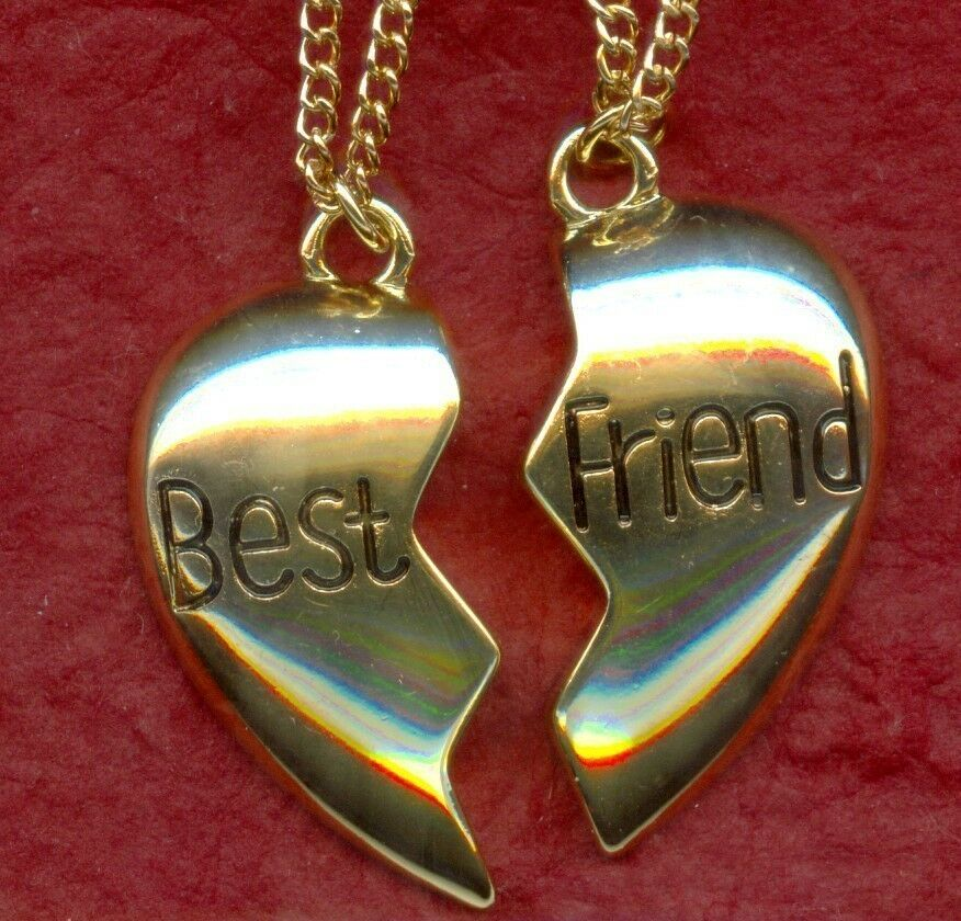 Best Friends Necklaces 2 Gold Or Silver Plated Chains
